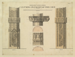 Plate 6. Carved shaft of both orders of columns in front of the cave